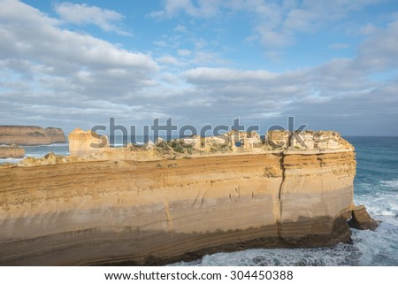 Rock formations at Port Campbell ,The Great Ocean Road, Australia - stock photo