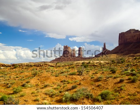 Rock formations of Monument Valley, Utah