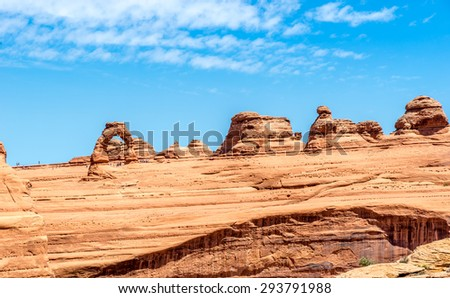 Rock Formations with Delicate Arch