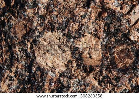 Rock granite - stock photo