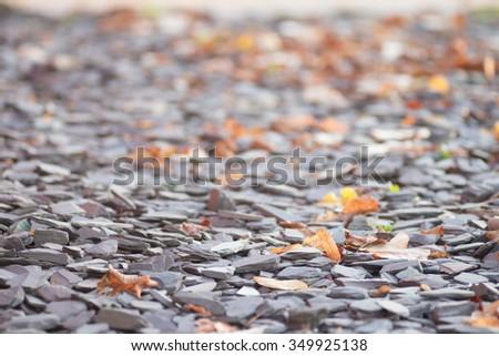 Rock gravel background - stock photo