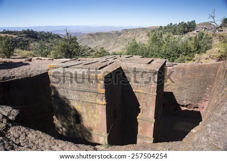 Rock Hewn Churches, Lalibela - stock photo