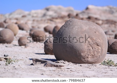 rock in Ischigualasto National Park, Argentina - stock photo
