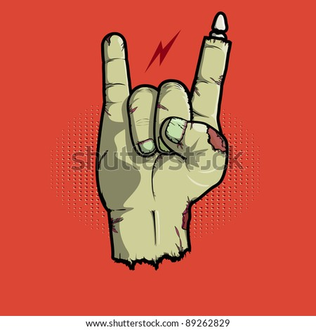 Rock is not dead/rock and roll hand icon