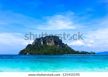 Rock Island Exotic landscape on the sea,Thailand - stock photo