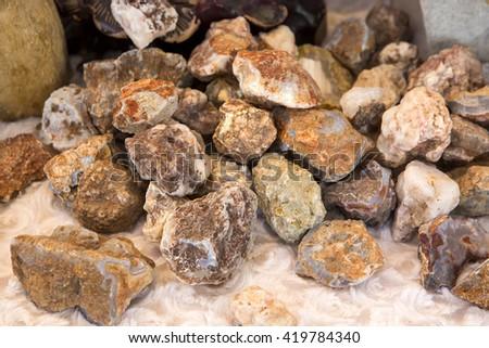 Rock, mineral, jewelry - stock photo