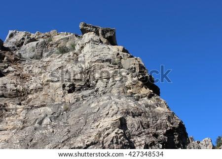 rock mountain - stock photo