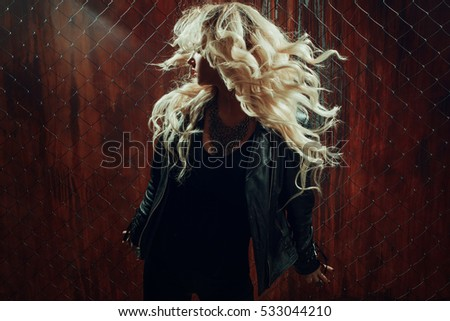 Rock N Roll Girl Hairstyles : Rock n roll girl stock images royalty free & vectors