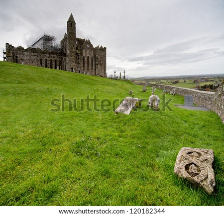Rock of Cashel Castle in Ireland. - stock photo
