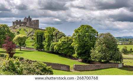 Rock of Cashel Landscape, ireland - stock photo