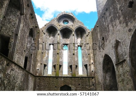 Rock of Cashel Ruin - stock photo