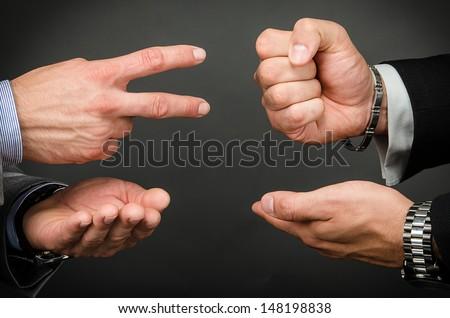 Rock, Paper, Scissors - stock photo