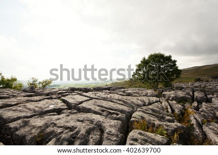 Rock pavement - stock photo