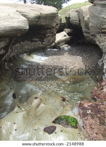 rock pool - stock photo
