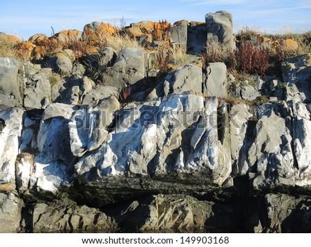 Rock soil - stock photo
