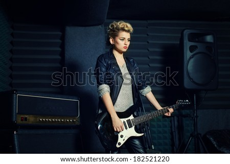 Rock star - stock photo