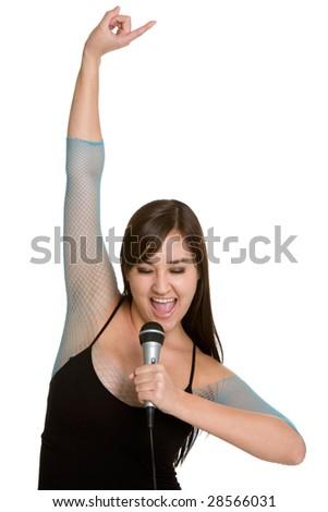 Rock Star Singing - stock photo