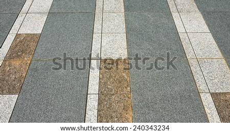 rock stone cement walkway - stock photo