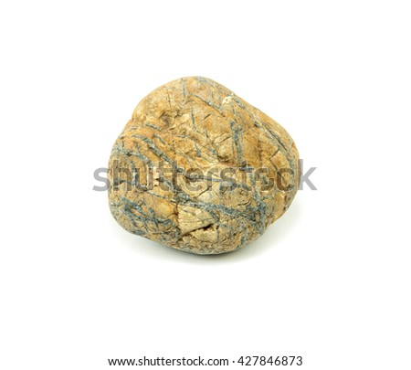 rock stone on a white background