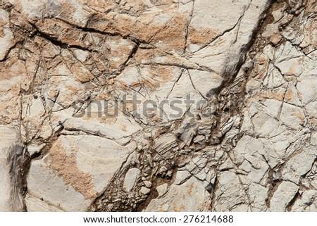 Rock, stone texture background - stock photo