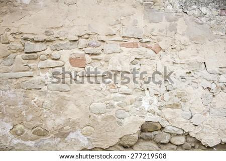 Rock stone townhouse wall, construction - stock photo