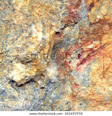 Rock surface detail in square tile format - stock photo