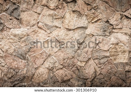 Rock wall background HDR process grunge style - stock photo