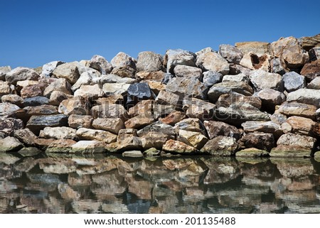 Rock Wall - concept image - stock photo