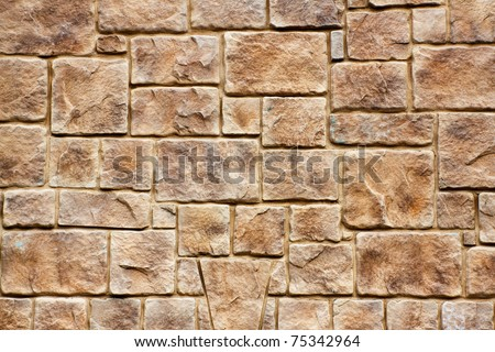Rock Wall Texture / Background - stock photo