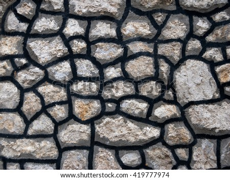 Rock wall textured or background
