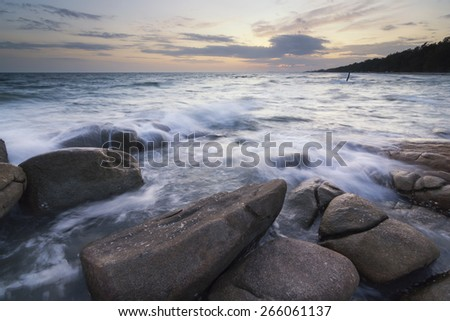 rock with small wave