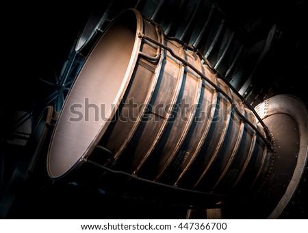 rocket engine - stock photo