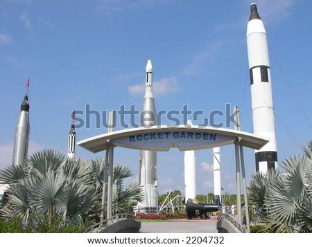 Rocket Garden at NASA - stock photo