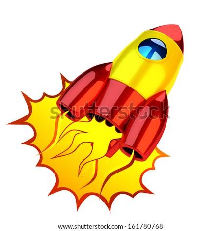 Rocket icon - stock photo