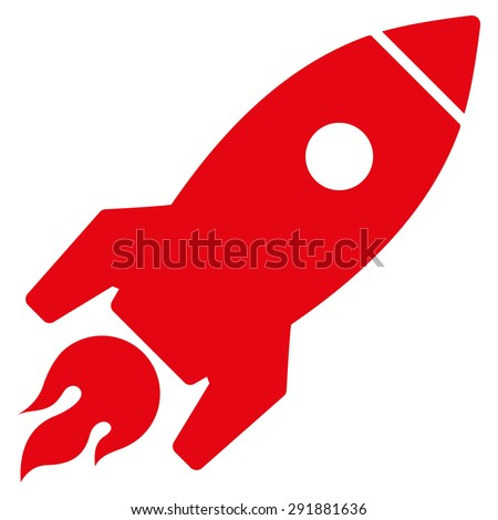 Red Rocket Icon Rocket Launch I...