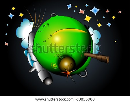 rocket on earth space travel - stock photo