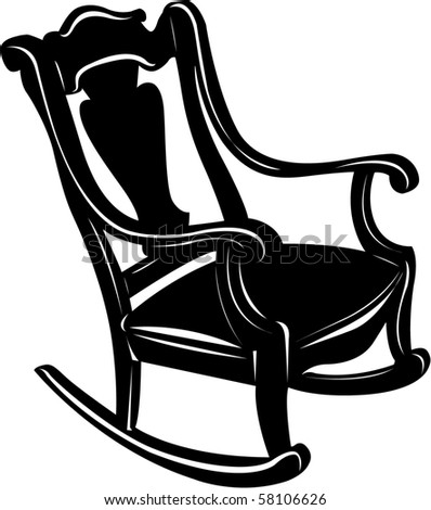 Rocking Chair Clipart antique rocking chair stock images, royalty-free images & vectors