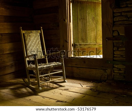 Rocking Chair in Old Cabin