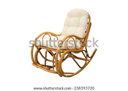 rocking chair isolated under the white background - stock photo