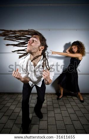 rocking couple - stock photo
