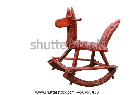 rocking horse chair children could enjoy the riding, Isolated on white background