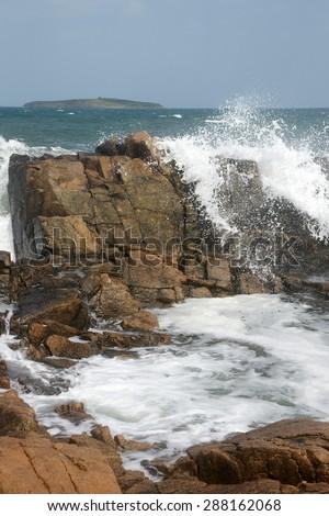 rocks and island 13 - stock photo