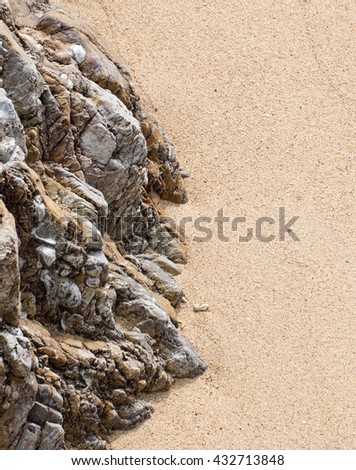Rocks and sand. - stock photo