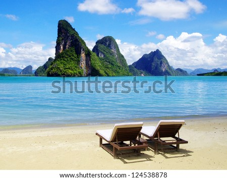 rocks and sea - stock photo