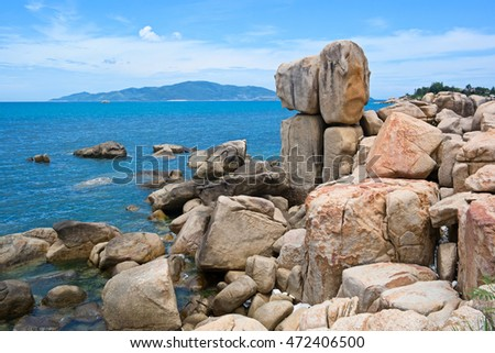 Rocks at Hon Chong Promontory - a popular landmark of Nha Trang, Vietnam