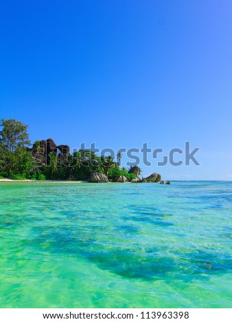 Rocks Exotic Beach - stock photo