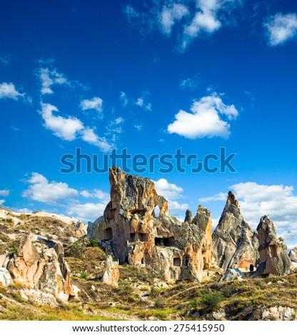 Rocks formations in Capadocia, Turkey - stock photo