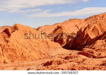Rocks in Atacama desert in Chile