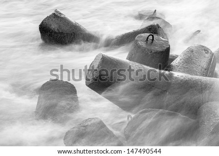rocks in the see