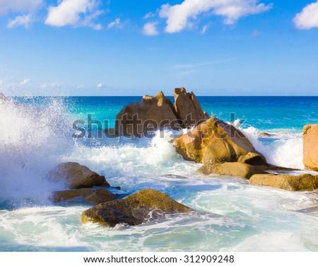 Rocks Ocean Scene  - stock photo
